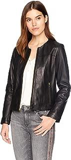 Cole Haan Women's Collarless Zip Front Jacket