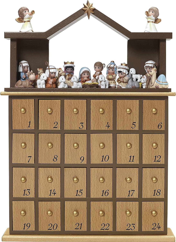 Precious Moments  O Come Let Us Adore Him Nativity Advent Calendar (Set of 26), Multicolor