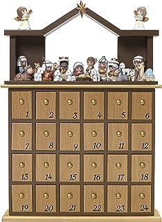 "Precious Moments"" O Come Let Us Adore Him Nativity Advent Calendar -27 Pieces, Multicolor"