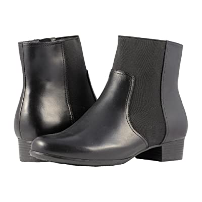 Trotters Monte (Black Smooth Leather) Women