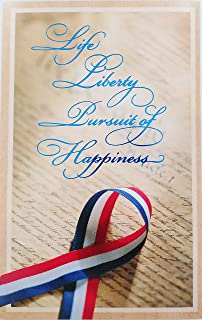 Life Liberty Pursuit of Happiness - Celebrating You on Veterans Day Greeting Card -