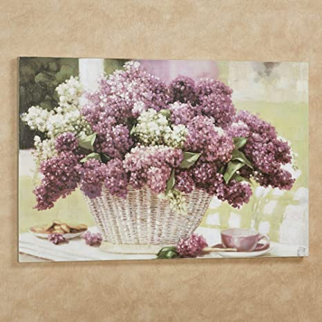 Touch Of Class Lilac Tea Party Canvas Wall Art Purple Large Posters Prints