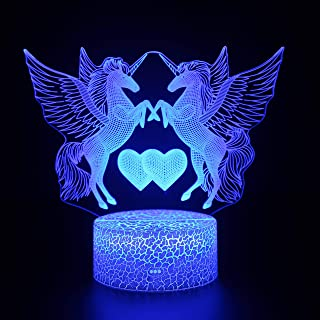 3D Night Light Optical Illussion,Kids Room Decor Lighting...