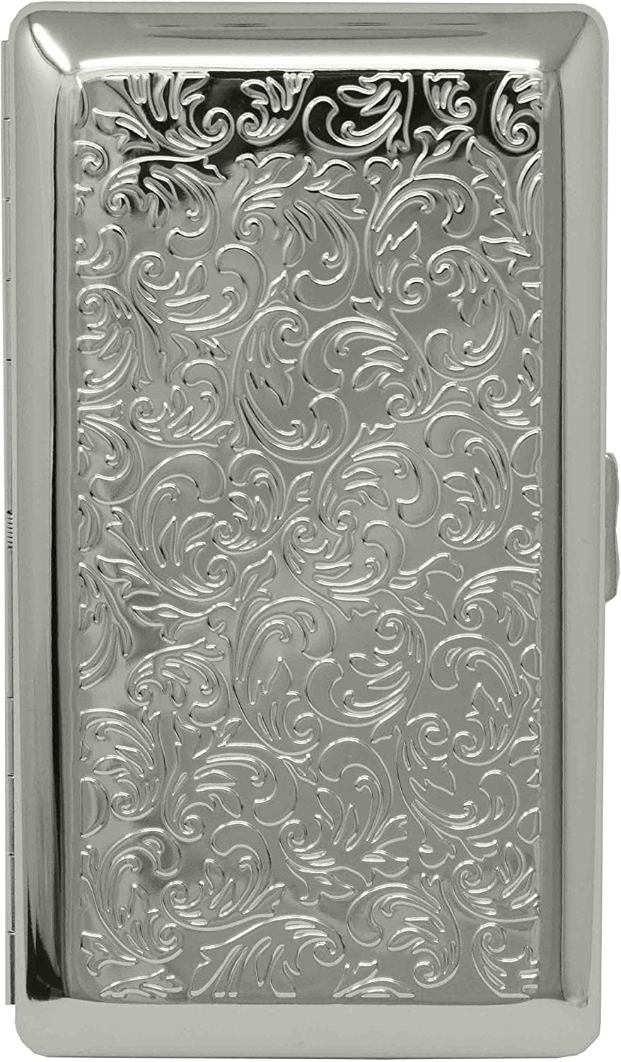 Silver Victorian Print Department store Full Pack C In stock Metal-Plated Cigarette 120s