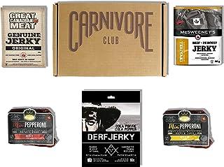 Carnivore Club Gift Box Jerky & Meat Sticks Sampler - Jerkygram - 4 to 6 Meat Snacks - Comes in Carnivore Club Themed Box...