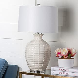 Safavieh Lighting Collection Shultz White 23.5-inch Table Lamp