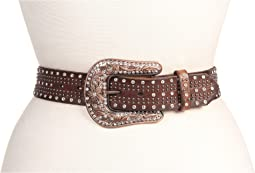 M&F Western Studded Belt w/ Bronze Buckle