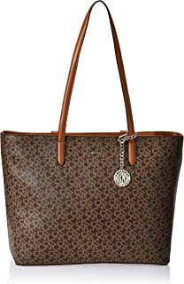 DKNY Tote Bag for Women- Monogram/Brown