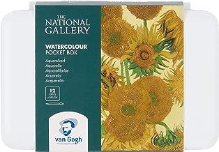 The National Gallery Van Gogh Watercolor Paint Set, Plastic Pocketbox, 12-Half Pan General Selection, Sunflowers