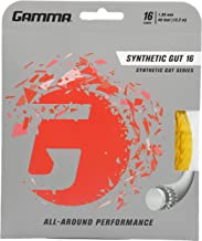 Gamma Synthetic Gut Series Tennis Racket String - Balance Of Playability And Extra Durability For All Playing Levels & Sty...