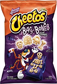 CHEETOS BAG OF BONES WHITE CHEDDAR CHEESE FLAVORED 7.5 oz. BAG ( 2 BAGS )