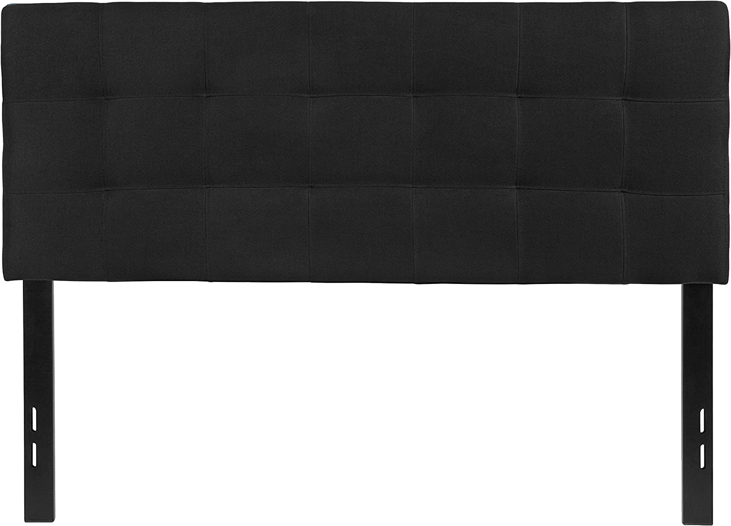 Flash Furniture Bedford Tufted Upholstered Full Size Headboard in Black Fabric