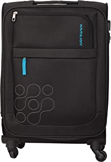 Kamiliant by American Tourister Gaho Softside Spinner Luggage 69cm with 3 digit Number Lock - Black, MEDIUM, BOHO, 62O09002