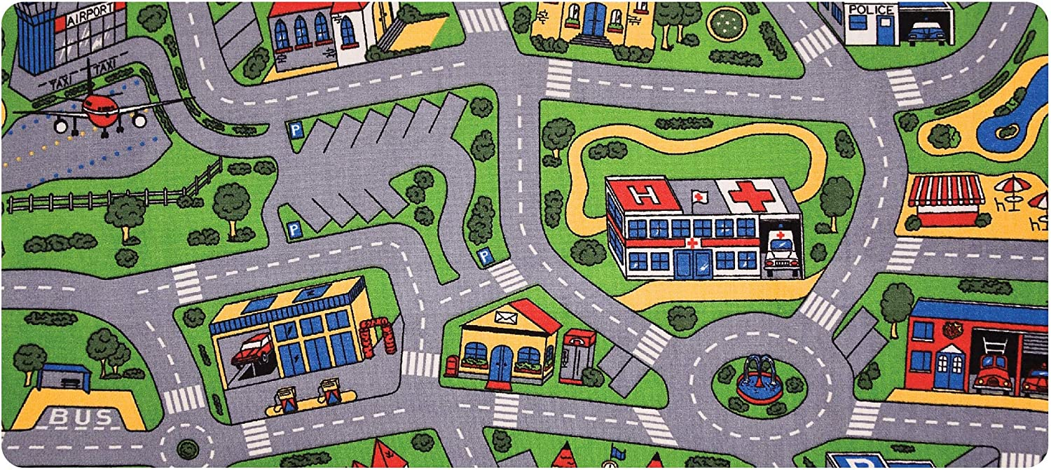 """Learning Carpets City Life Play Minneapolis Mall Carpet by 79"""" 36"""" – Max 72% OFF City-Themed"""