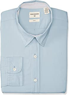 Dockers Long Sleeve Washed Poplin No Pocket Camisa Casual para Hombre