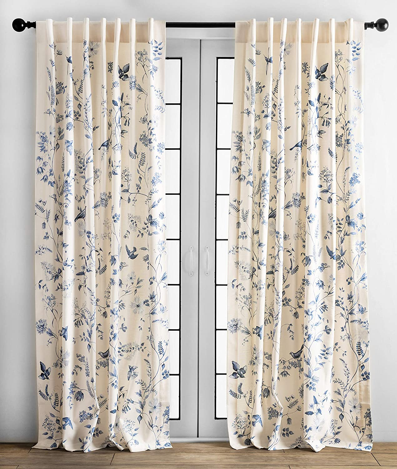 Maison d' Hermine Neo Ipomee 21 Cotton Curtain One Panel for Living Rooms  Bedrooms Offices Tailored with a Rod Pocket and Loop for Easy Hanging ...