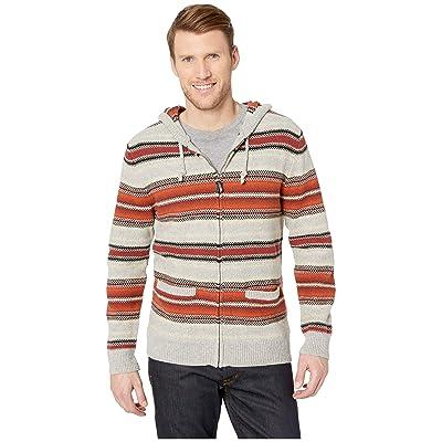 Pendleton Serape Stripe Hooded Sweater (Red/Tan Stripe) Men