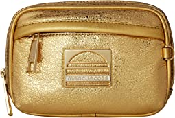 Sport Leather Metallic Belt Bag