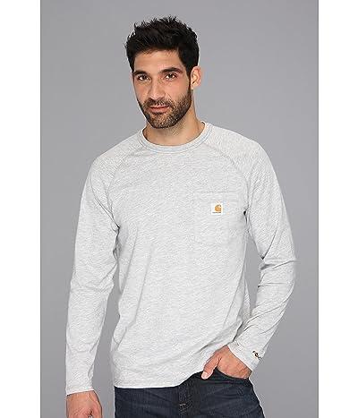 Carhartt Force(r) Cotton Delmont Long-Sleeve T-Shirt (Heather Gray) Men