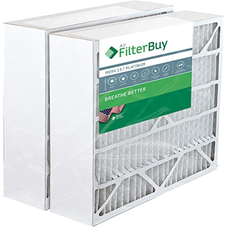 FilterBuy 20x25x6 Air Filter MERV 13, Pleated Replacement HVAC AC Furnace Filters for Aprilaire Space-Gard (2-Pack, Platinum)