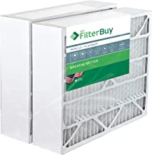 FilterBuy 20x25x6 Pleated AC Furnace Air Filters Compatible with/Replacement for Aprilaire Space Gard 201. AFB Platinum MERV 13. 2 Pack.