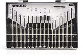 Steelman Precision Steel Shaft 16-Piece Screwdriver Set, Variety of Slotted/Phillips/Hex/Nut Driver Sizes, Swivel-Head