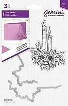 Gemini GEM-STD-CHCA Stamp & Die Christmas Candles Stamp and Metal Die Set Clear/Silver