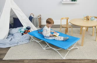 Regalo My Cot Pals Small Single Portable Toddler Bed, Raccoon, Blue