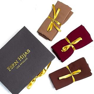 Fern Hijab Chiffon Scarf Gift box Premium Non-Slip Head Wrap