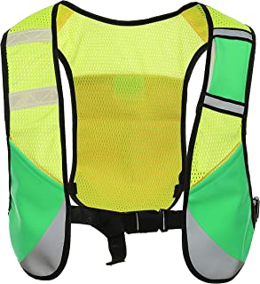 Uninova Reflective Running Vest - 4 Pockets Hydration Pack for Men & Women (Green)