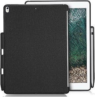 """ProCase iPad Pro 10.5 ケース 保護ケース バックカバー Appleペンシルホルダー付き iPad Pro 10.5インチ 2017 10.5"""" New iPad Air (3rd) 2019モテルナンバー:A2152 A2123 A2153 A2154専用 Appleスマートキーボードとカバーに対応 -ブラック"""