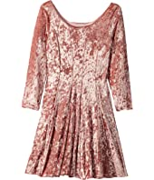 fiveloaves twofish - The Traveler Dress Stretch Velvet (Little Kids/Big Kids)