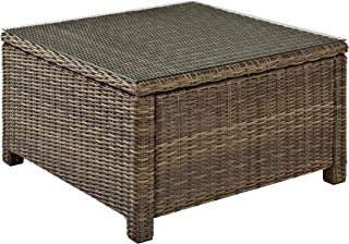round resin wicker coffee table