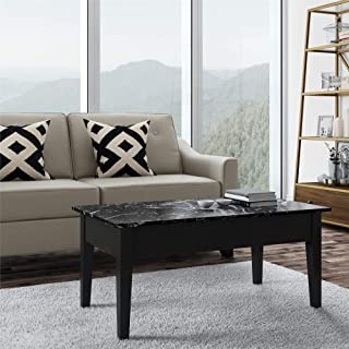 marble top coffee table with storage