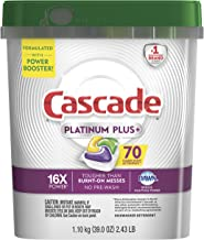 Cascade Platinum Plus Dishwasher Detergent Actionpacs, Lemon