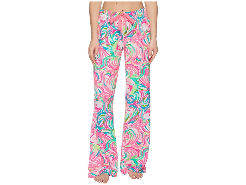 Lilly Pulitzer Knit Pajama Pants (Raz Berry Rose All Day) Women