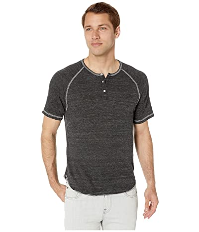 Alternative Short Sleeve Eco Raglan Henley (Eco Black) Men