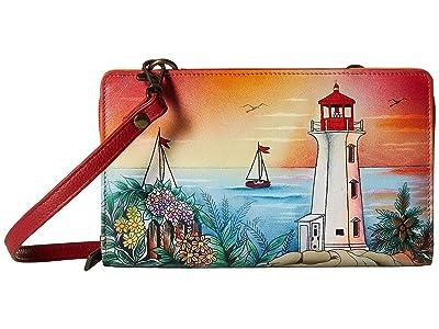 Anuschka Handbags Cell Phone Crossbody Wallet 1149 (Guiding Light) Handbags