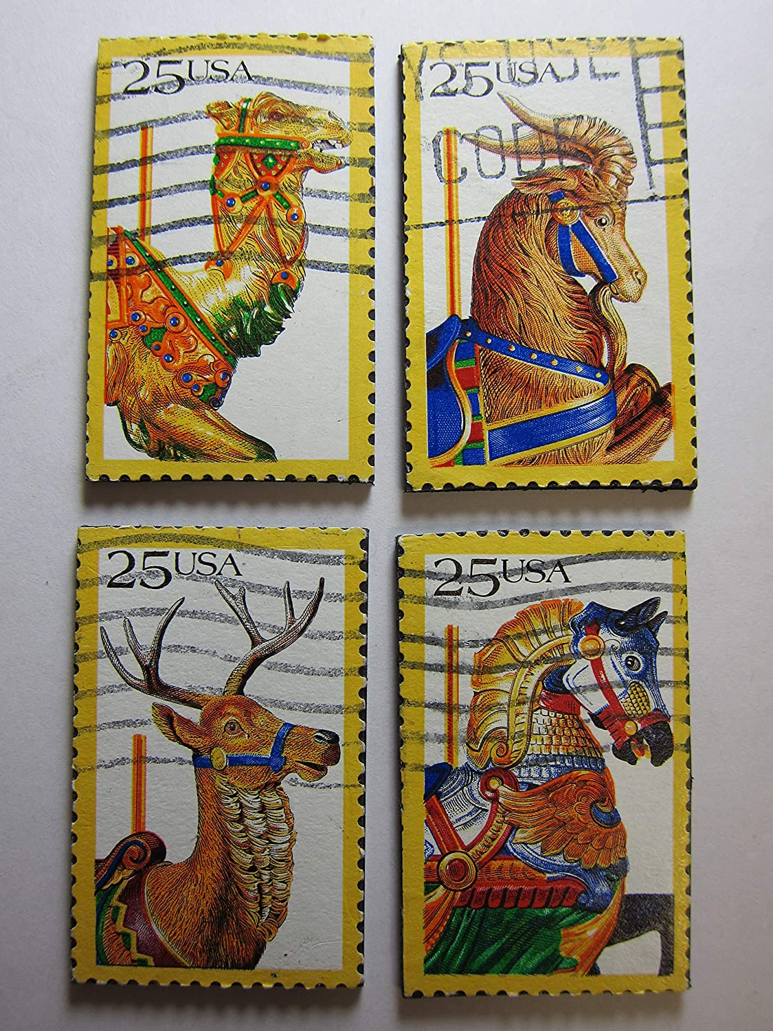 Carousel Magnets - Recycled Postage Max 72% OFF Stamp shopping Art the from USA
