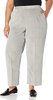 Alfred Dunner Women's Plus Size Cordury Short, Clean Front, Back Elastic