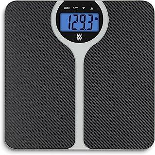 مقیاس WW توسط Conair Carbon Fiber Fiber Design BMI مقیاس حمام - BMI (شاخص توده بدنی) را برای 4 کاربر ، ظرفیت 400 پوند نشان می دهد