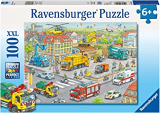 Ravensburger Vehicles in The City Puzzle 100pc,Children's Puzzles