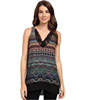 Karen Kane - Riviera Stripe Lace Trim Tank Top