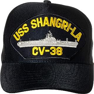United States Navy USS Shangri-La CV-38 Aircraft Carrier Ship Emblem Patch Hat Navy Blue Baseball Cap