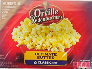 Orvillle Redenbacher's Ultimate Butter Microwave Popcorn, 6 Classic Bags (2 boxes)