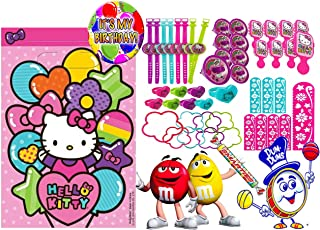 Hello Kitty (8) Pre-Filled Toy & Candy Party Favor Goodie Bags! Plus Bonus