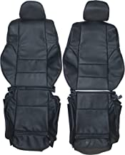 1998-2004 BMW E46 Coupe Sport Genuine Leather Seats Cover Custom Made (Front) Charcoal Black