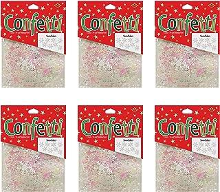 Beistle SCN167AZ6 snowflake confetti, Opalescent