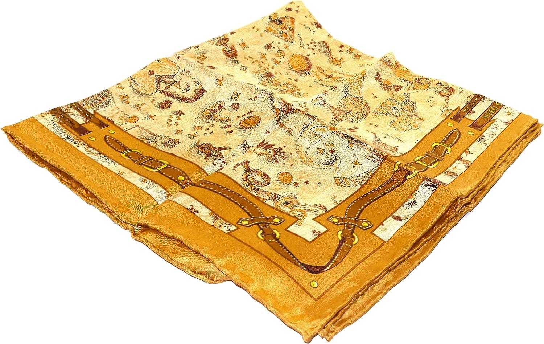 Fazzoletto da collo Piero Guidi Magic Circus Safari 100% Seta 50x50 cm  Beige