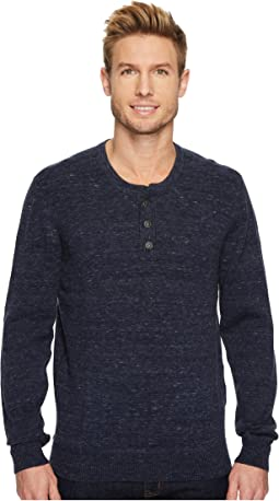 Agave Denim - Hollow Long Sleeve Henley 9GG Heather